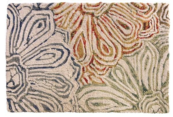 grey handmade rocks jellybean shaggy wool rug colours products felted sizes more blue cream rugguru x