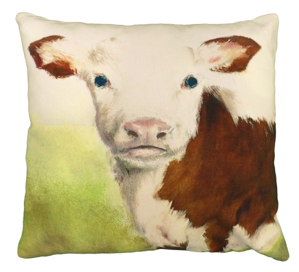 "NPE-025 Christine (Cow) 20""x20"" Printed Pillow"
