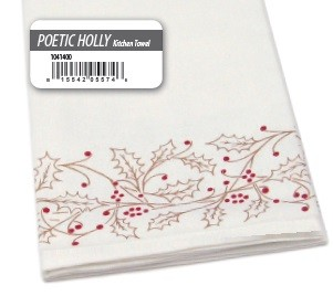 Poetic Holly Kitchen Towel 2-PC Set